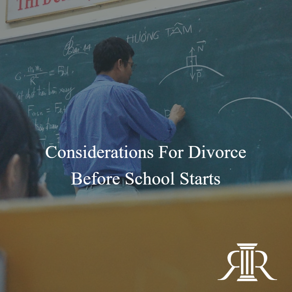 Divorce Before School Starts